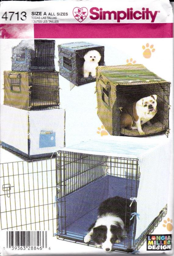 Simplicity 4713 Dog Cat Pet Crate Covers Mats Bumper Pads
