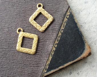 Little Square Charms 2 pieces