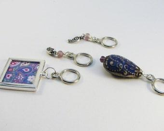 Purple Paisley - Non-Snag Stitch Markers