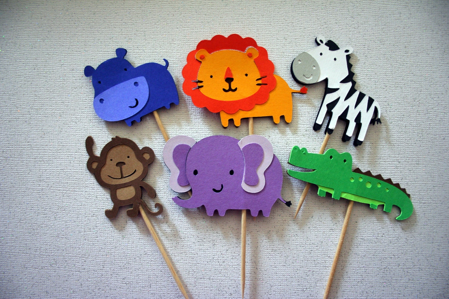 Jungle Safari Animal Cupcake Toppers food picks by ...