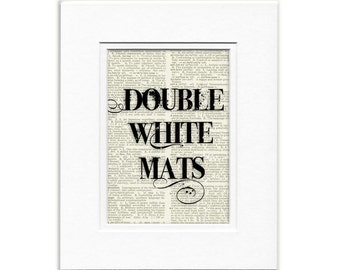 MATS 8x10 double beveled white