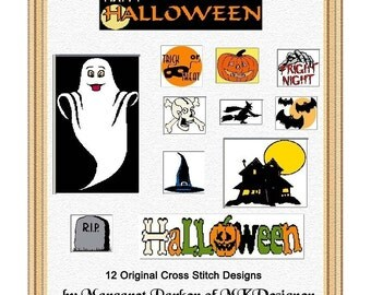 HAPPY HALLOWEEN In Cross Stitch Hobbyware pat.Files or Graphs