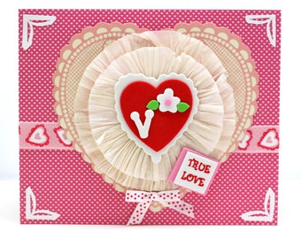 Shabby Vintage Victorian Style Valentine Heart Card