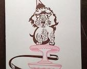 Letterpress Ella Birthday Card