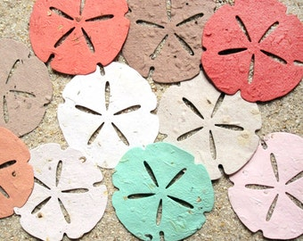 20 BIG Sand Dollars - Seed Paper Sand Dollar - Beach Wedding Favors - Plantable Seed Paper Shells - Destination Wedding