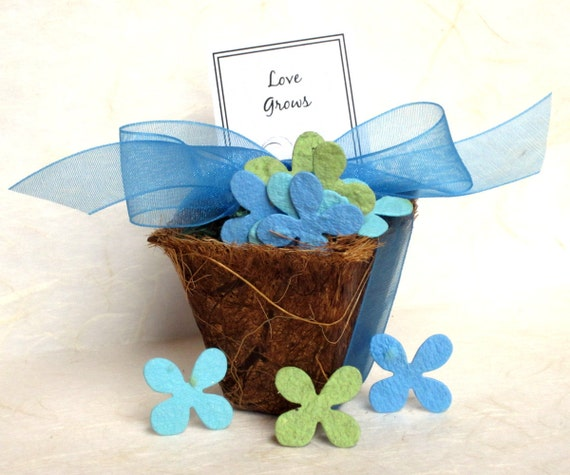 50 seed wedding favors plantable paper flower by recycledideas With plantable seed paper wedding favors