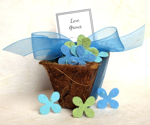 Flower Seed Wedding Favours: 50 Seed Wedding Favors Plantable Paper Flower By Recycledideas