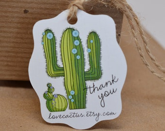 Southwest Cactus Gift Tags Thank You Tag Hang Tag Price Tag