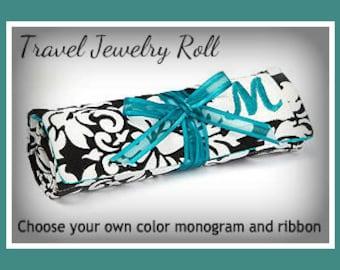 Bulk Sale Set of 4 Tiffany Blue Teal Jewelry Roll Bag - Customizable - Free Shipping