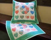 pillow covers matching set quilted, spring colors