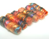 No temptation will overcome you but the one common to all. Beads. Fiber Bead set, textile artisan bead, dread hair tube dreadlock decoration