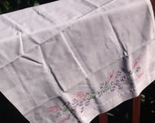 Hand Embroidered Spring flower pillow case