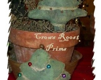 Tree 103e  CHRISTMAS Primitive  ornament Crows Roost Prims epattern SALE immediate download