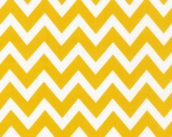 NEW  Ann Kelle's Remix Summer Yellow Chevron Stripes from Robert Kaufman, Yard