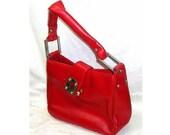 Vintage Red Handbag Purse...