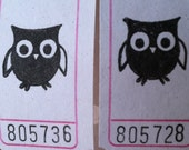 Owlet Vintage Style Hand Stamped Carnival Tickets