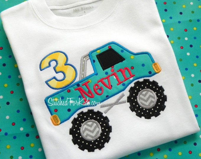 Monster Truck  Birthday Shirt, Truck Birthday Shirt, Big Trucks, Demolition Derby Birthday