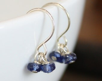 Three-Stone Earrings - Gemstone, Sterling Silver