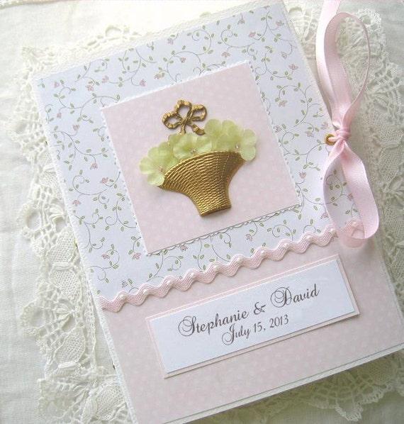 Wedding Shower Photo Album Personalized Basket of Flowers