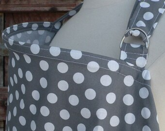 Nursing Cover-White Dots on Gray-Free Shipping When Purchased With A Wrap
