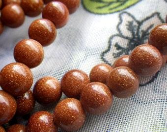 Goldstone Beads 6mm Round 50 Pcs