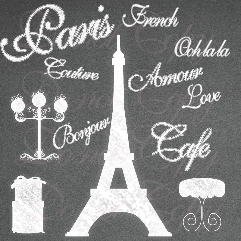 Instant download chalk paris shabby french by digitalscrap - Scrapbooking paris boutique ...