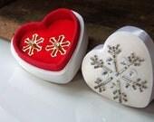 REDUCED Vintage Jewelry, Etsy, Vintage Avon Snowflake Earrings, Rhinestone Earrings, Avon Snow Petals, Etsy Jewelry, Valentines Gift