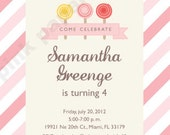 DIY Pink Candy Birthday Party package