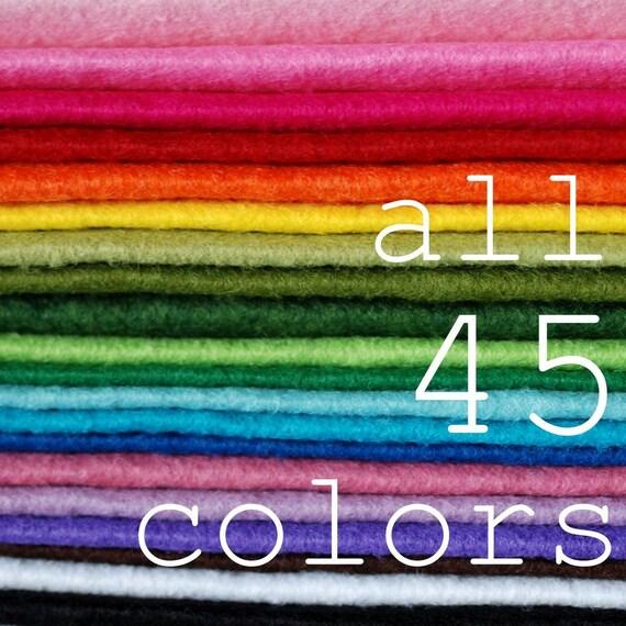 LAST ONE Wool Blend Felt in 45 Designer Colors