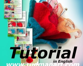 Felted Flower Tutorial in English PDF