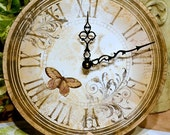 Vintage Butterfly Clock