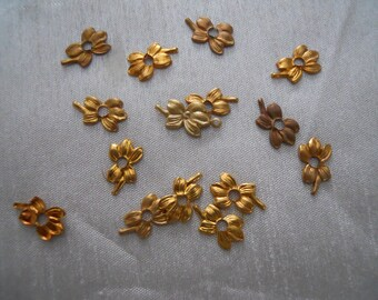 Vintage Metal Tiny Flower Findings