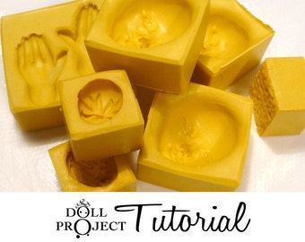 PDF Tutorial Flexible Molds How to Make Your Own Small Silicone Molds for Doll faces Candle Candy Chcocolate Fimo Soap Resin Polymer Clay