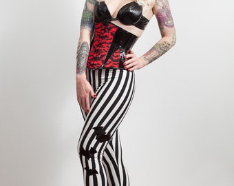 Stripes & Pvc Bats Leggings, any size