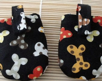 Polka Dot Bones HUSH PUPPY Dog Tag Covers