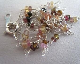 Multicolor tourmaline necklace