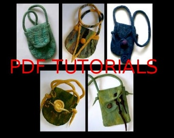 Instant Download Ebook - Gorgeous Little Bags - PDF - Make Your Own Felt Bags Feltmaking Tutorial