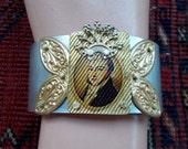 Cuff bracelet, Victorian Jewelry,Victorian Bracelet, Steampunk Jewelry, Steampunk Bracelet, Steampunk Cuff. aluminum cuff