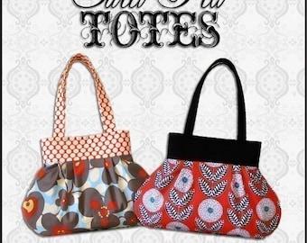 Pleated Handbag ebook PDF Sewing Pattern / Sweet Pea Totes