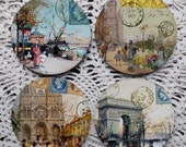 Postcards from Paris -- French Images Mousepad Coaster Set