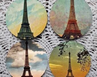 Dreamy Eiffel Tower -- Paris Mousepad Coaster Set
