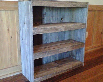 FarmHouse Bookcase. Wooden Shelf Shelf Cottage Decor. Recycled Wood Furniture. Wooden Furnishings. Eco Furniture .. Its Green:)