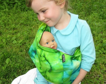 Childrens Doll Sling - toy pouch for imaginative play - funky tie dye