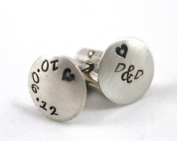 Wedding Gift Cufflinks For Groom : Fathers Day Gift, Wedding Groom Cufflinks, Personalized Cufflinks ...