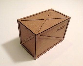 Miniature shipping crate kit (Large)