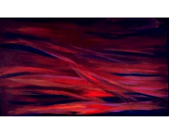 Seeing Red, An Original Abstract Painting, 28 by 46 inches