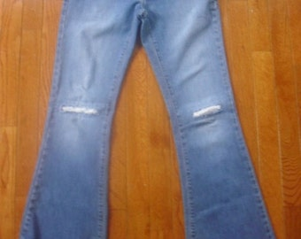 Hippie Boho Altered Couture AE Jeans