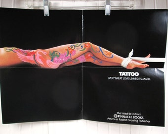 Vintage Book Advertising Poster - Tattoo by Lee Hays - Romance Novel