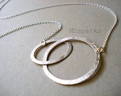 Mother and Child Necklace in Sterling Silver