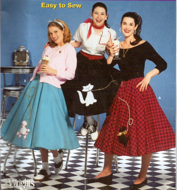 Sewing Pattern Simplicity 5403  Misses' Poodle Skirts Sizes 14-22 Uncut Complete FF